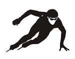 Speed Skater Silhouette v11 Decal Sticker